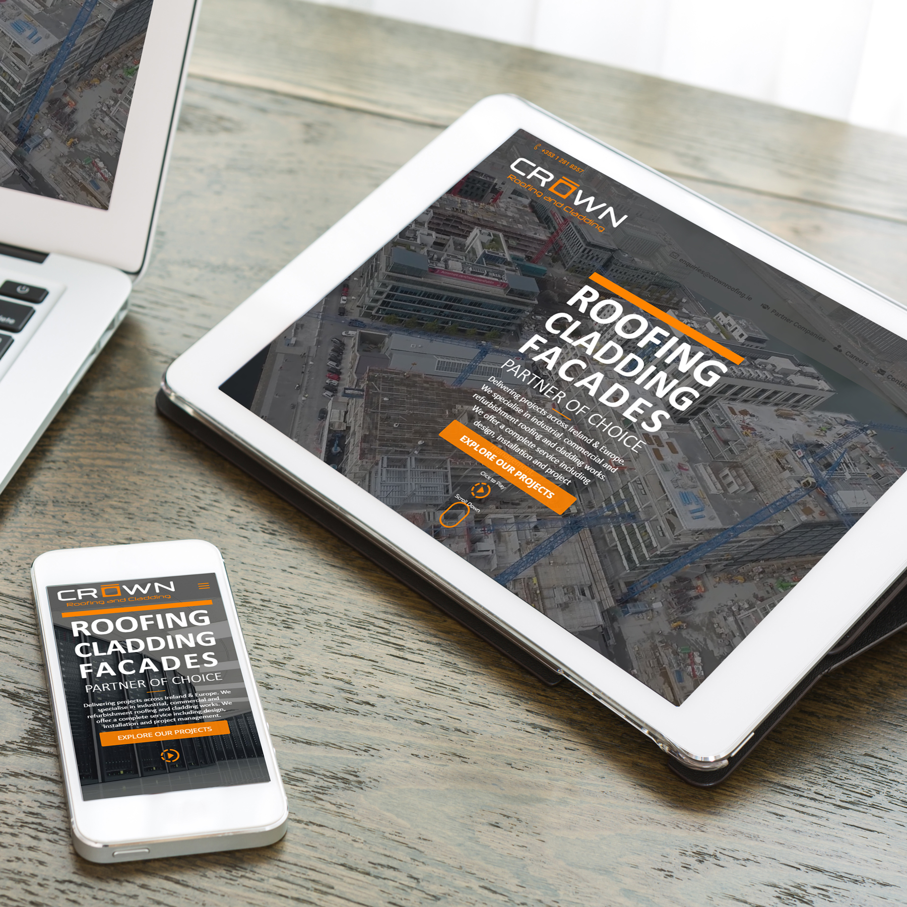 Crown Roofing Website Design & Development by Kobba - The Creative Agency